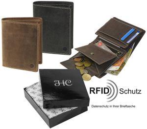 Hochformat Geldbörse in antikem Leder mit RFID Schutz – Bild 1