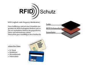 Geldbörse 2 farbig abgesetzt mit RFID Schutz – Bild 8