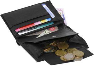 Hochformat Geldbörse in weichem Nappa Leder doppel Naht  mit RFID Schutz – Bild 3
