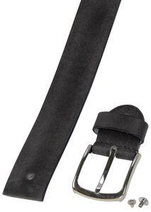 Ledergürtel aus Büffelleder mit eleganter Schließe – Bild 16