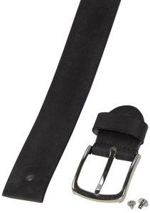 Ledergürtel aus Büffelleder mit eleganter Schließe – Bild 12
