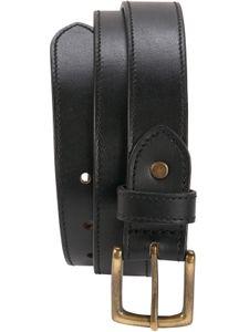 Ledergürtel aus Büffelleder mit Altmessingschnalle 3 cm Breit – Bild 9