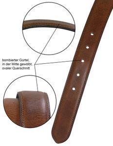 bombierter Ledergürtel aus Büffell-Nappa-Leder mit hochwertiger Schnalle – Bild 3