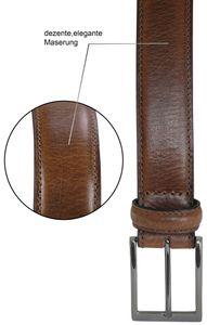 bombierter Ledergürtel aus Büffell-Nappa-Leder mit hochwertiger Schnalle – Bild 6