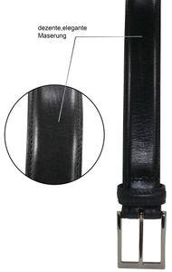 bombierter Ledergürtel aus Büffell-Nappa-Leder mit hochwertiger Schnalle – Bild 11