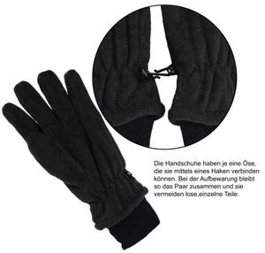 Fleece Fingerhandschuhe mit Thinsulate Strickbund – Bild 7
