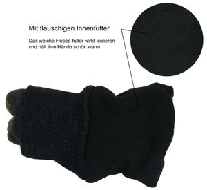 Fleece Fingerhandschuhe mit Thinsulate Strickbund – Bild 8