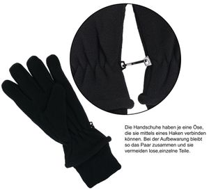Fleece Fingerhandschuhe mit Thinsulate Strickbund – Bild 3