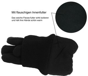 Fleece Fingerhandschuhe mit Thinsulate Strickbund – Bild 4