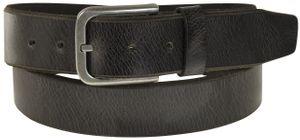 Ledergürtel Büffelleder mit Altsilberschließe gebrochene Kante 4 cm Vintage – Bild 3