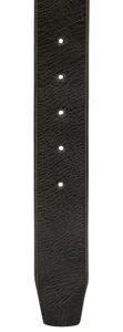 Ledergürtel Büffelleder mit Altsilberschließe gebrochene Kante 4 cm Vintage – Bild 7