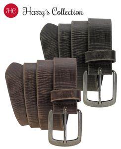 Ledergürtel Büffelleder mit massiver Altsilberschließe 2 Farben Vintage – Bild 1