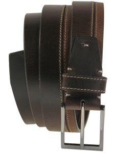 Exklusiver Ledergürtel  2 Farbig abgesetzt mit feiner Schließe – Bild 2