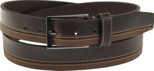 Exklusiver Ledergürtel  2 Farbig abgesetzt mit feiner Schließe – Bild 3