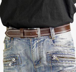 hochwertiger Ledergürtel mit Steppnaht  – Bild 4