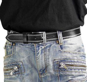 hochwertiger Ledergürtel mit Steppnaht  – Bild 9
