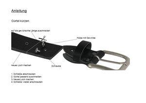 hochwertiger Ledergürtel mit Steppnaht  – Bild 13
