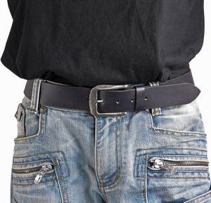 Jeans Gürtel mit starker Altsilberschließe in 3 Farben – Bild 9