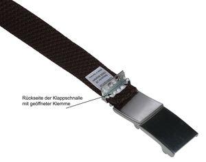 Elastik Gürtel für Damen und Herren  30 mm mit Klappschnalle – Bild 11