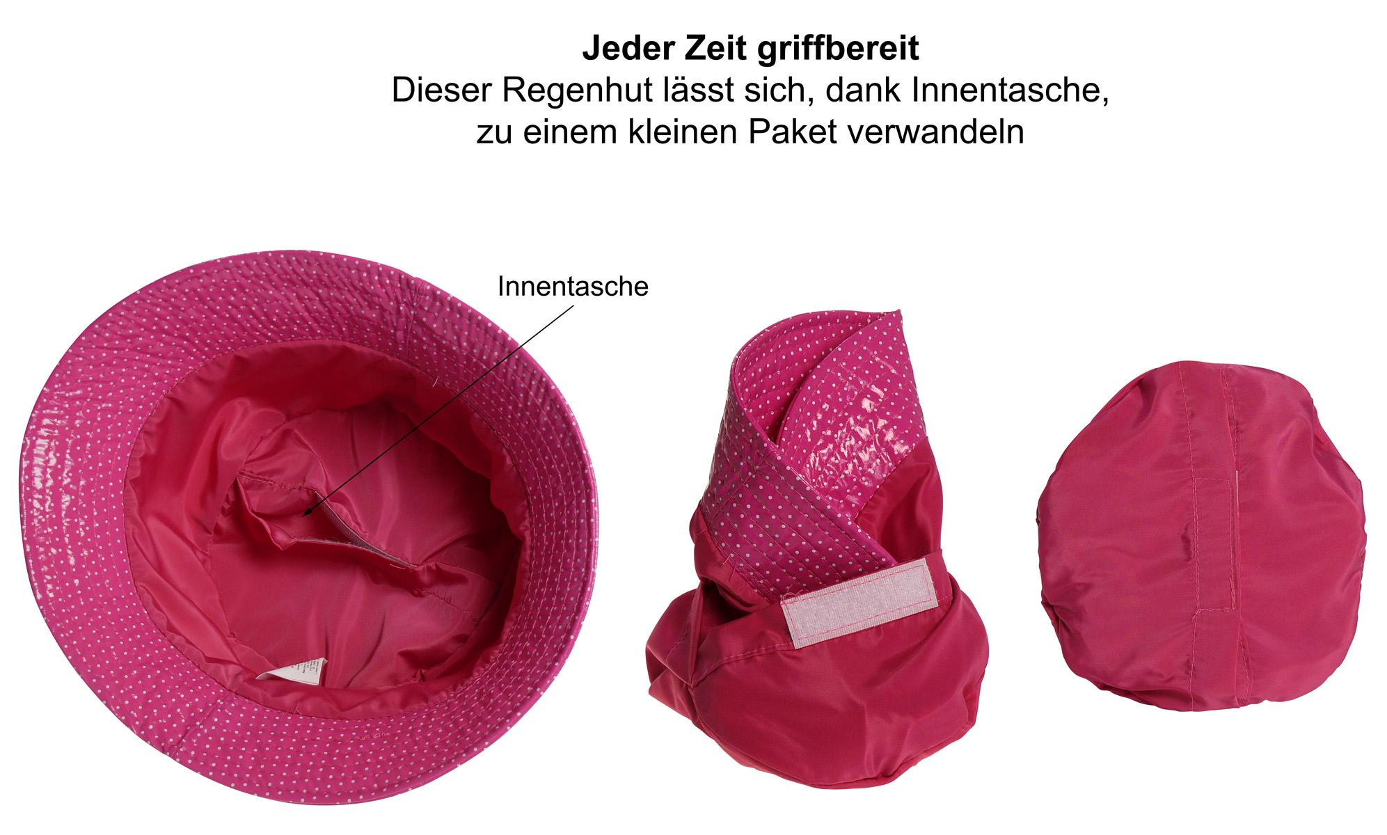 Regenhut mit Punkten Hut Hüte Damenhut Sommerhut Schlechtwetter Hut