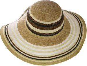 Exclusiver Damenhut mit breitem Rand gestreift – Bild 4