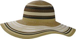 Exclusiver Damenhut mit breitem Rand gestreift – Bild 3