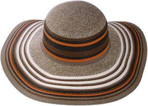 Exclusiver Damenhut mit breitem Rand gestreift – Bild 10