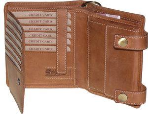 Geldbörse aus hochwertigem Rindleder in 2 Farben mit Kette! – Bild 5