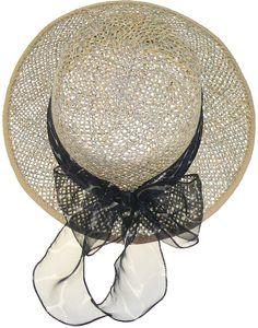 Ovaler Hut aus Seegras mit Chiffonband – Bild 4