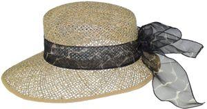 Ovaler Hut aus Seegras mit Chiffonband – Bild 3