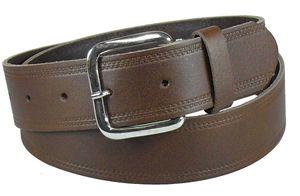 Brauner Ledergürtel mit Räufel 4 cm von 85-135 cm