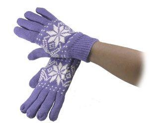 Strickhandschuh mit Norwegermuster für Damen in 3 Farben!