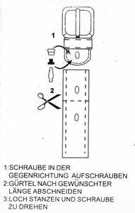 Antikbrauner Damengürtel mit Altsilberfarbiger  Schließe  – Bild 2