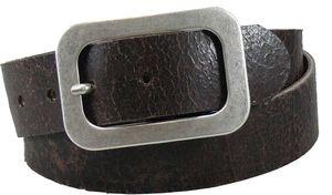 Antikbrauner Damengürtel mit Altsilberfarbiger  Schließe  – Bild 1