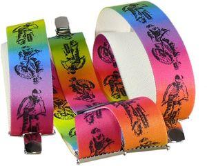 Hosenträger mit 3 Clipsen Mounten Biker!