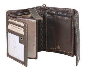 Geldbörse Pure mit Aussenklappe und Kette aus Büffelleder – Bild 2