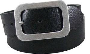 Antik schwarzer Damen Gürtel mit Altsilberfarbiger Schnalle – Bild 1