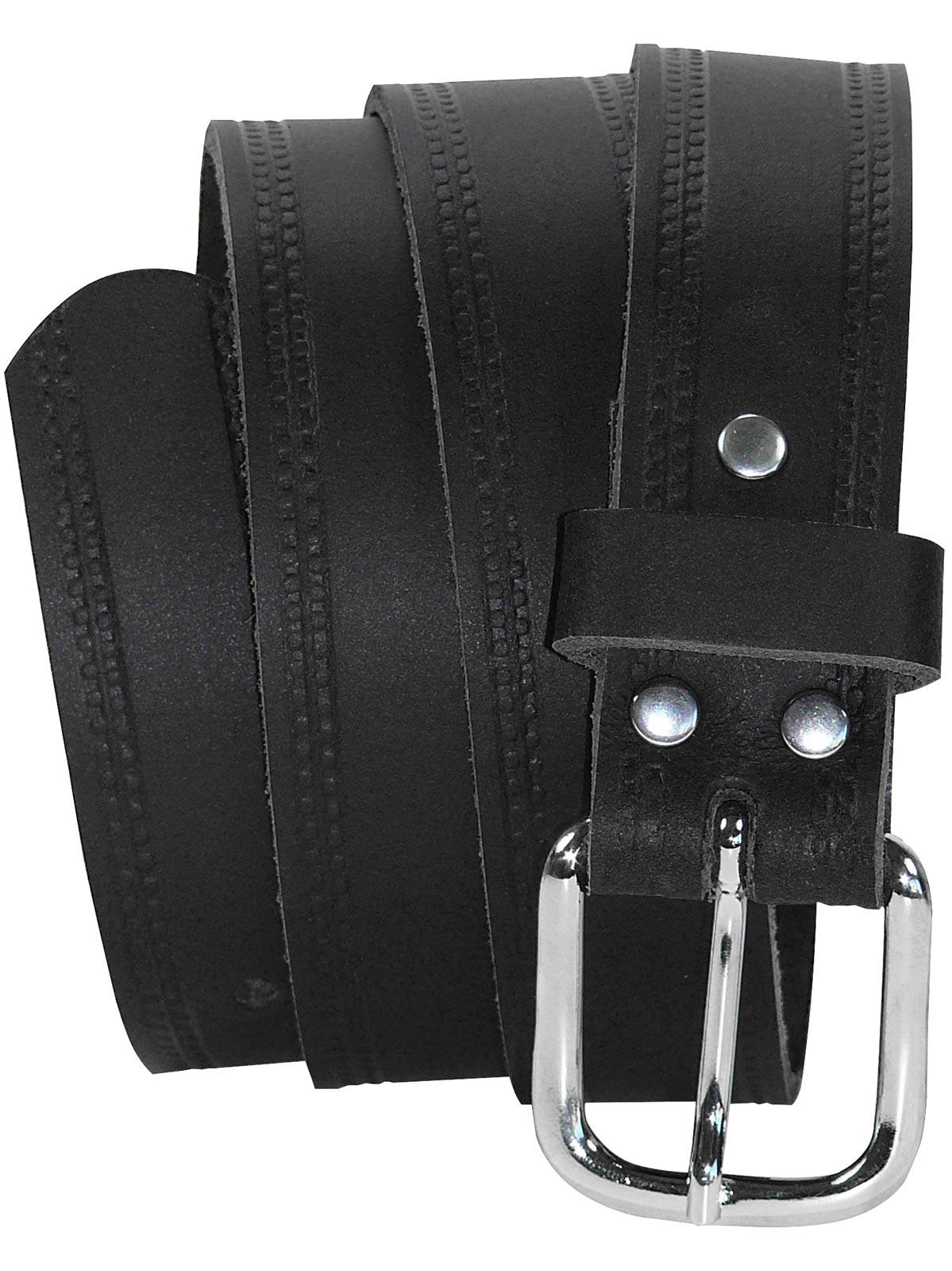 Herren Ledergürtel Echt Leder Gürtel 85-135cm 3,8cm Damen Ledergürtel breit