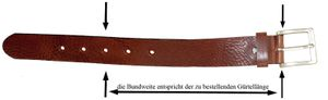 Ledergürtel 3 cm breit schwarz! Überlänge bis 180 cm – Bild 3