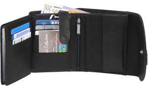 Damengeldbörse mit Lederlasche in 6 Farben – Bild 7