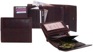 Damengeldbörse in oxidbraun Aussenklappe !  – Bild 1
