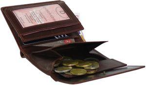 Damengeldbörse in oxidbraun Aussenklappe !  – Bild 3
