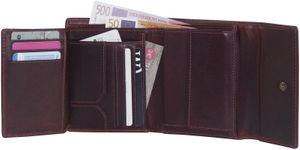 Damengeldbörse in oxidbraun Aussenklappe !  – Bild 5