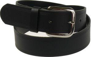 Schwarzer Ledergürtel mit Räufel  in 4cm Breite bis 170 cm