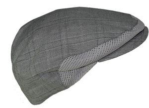 Leichte Flatcap in grau mit Belüftung