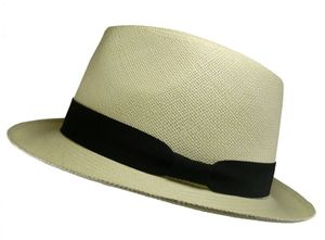 Panamhut in Trilby Form weiß