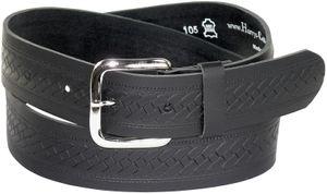 schwarzer Gürtel in 4 cm Breite geprägt
