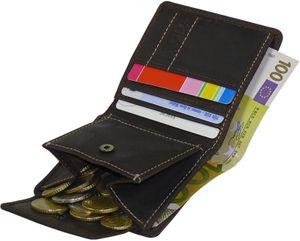 Kleine Geldbörse aus Nubuckleder in 2 Farben – Bild 3