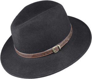 Rollbarer Hut mittlere Größe mit braunem Band