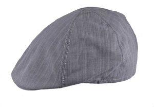 Flatcap in grau 6 teilig